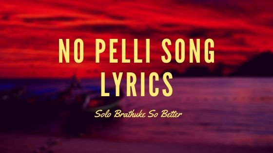 no pelli song lyrics